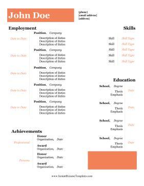 Entry level skills put resume
